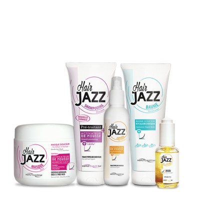 HAIR JAZZ shampoo, lotion, mask, serum en hyaluronic repair conditioner